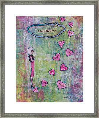 I Love You Truly Framed Print by Gina Rath