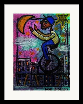 Positive Attitude Paintings Framed Prints