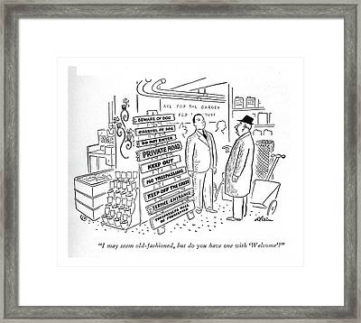 I May Seem Old-fashioned Framed Print by  Alain