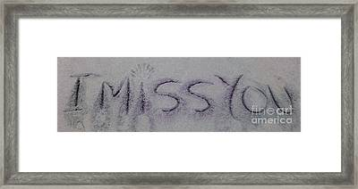 Framed Print featuring the photograph I Miss You by Janice Westerberg