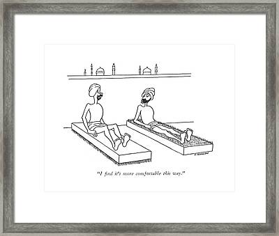 I ?nd It's More Comfortable This Way Framed Print by Otto Soglow