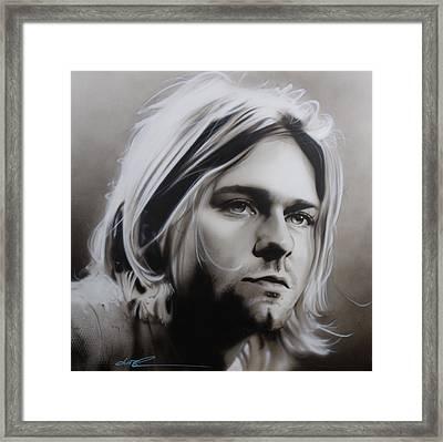 Kurt Cobain - ' I Need An Easy Friend ' Framed Print by Christian Chapman Art
