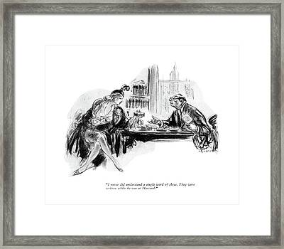 I Never Did Understand A Single Word Of These Framed Print by Wallace Morgan