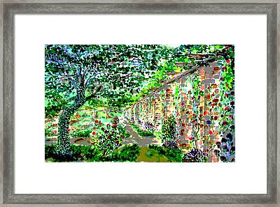 Framed Print featuring the painting I Never Promised You A Rosegarden by Alfred Motzer