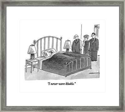 I Never Wore Khakis Framed Print by Mick Stevens