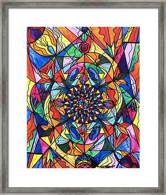 I Now Show My Unique Self Framed Print by Teal Eye  Print Store