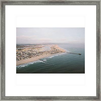 I ❤oc #california #vsco Framed Print