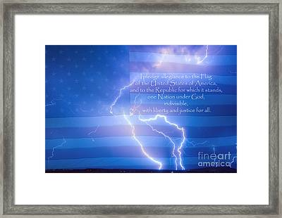 I Pledge Allegiance To The Flag  Framed Print by James BO  Insogna