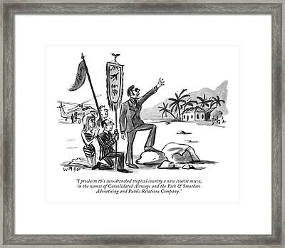 I Proclaim This Sun-drenched Tropical Country Framed Print by Warren Miller