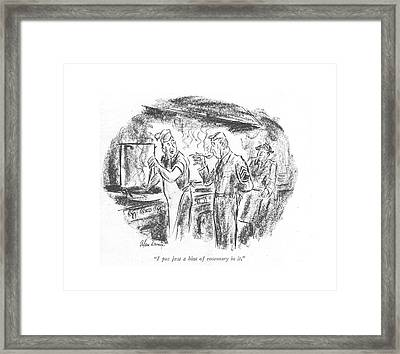 I Put Just A Hint Of Rosemary In It Framed Print by Alan Dunn