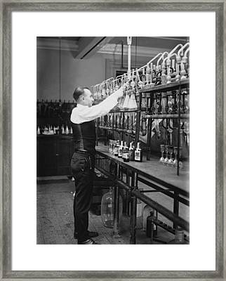 I R S Prohibition Test Lab  1920 Framed Print by Daniel Hagerman
