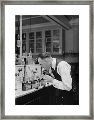 I R S Prohibition Test Laboratory 1920 Framed Print by Daniel Hagerman