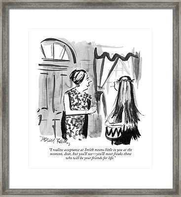 I Realize Acceptance At Smith Means Little Framed Print by Donald Reilly