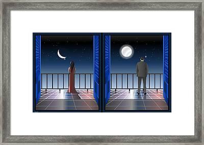 I Saw The Crescent Framed Print by Anna Elia