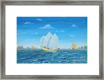 I Saw Three Ships Framed Print