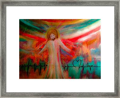 I See Heaven Framed Print by Debbie Hornsby