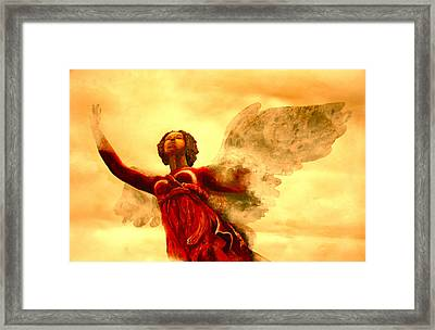 I See My Angel Coming Forth Framed Print