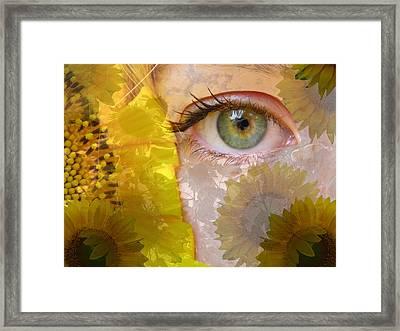 I See Sunflowers Framed Print