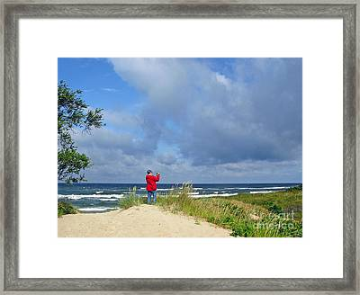I See The Sea. Juodkrante. Lithuania Framed Print by Ausra Huntington nee Paulauskaite