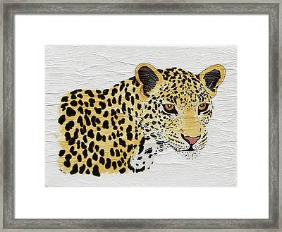 Framed Print featuring the painting I See You 2 by Stephanie Grant