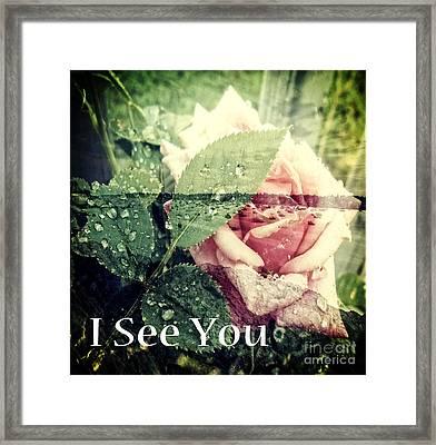 I See You Framed Print by Eva Thomas