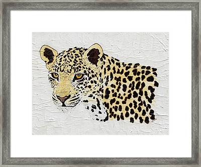 Framed Print featuring the painting I See You by Stephanie Grant