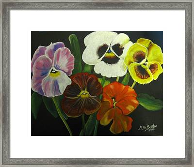 I See Your Pansies Framed Print
