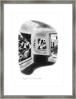 I Still Don't Get This Non-objective Stuff Framed Print by Richard Taylor