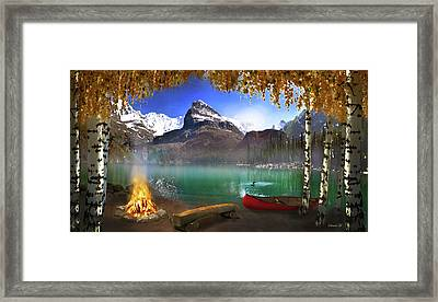 I Stillness I Heal Framed Print by David M ( Maclean )