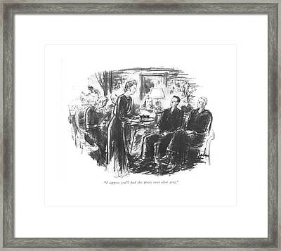 I Suppose You'll ?nd This Pretty Tame After Grog Framed Print by Perry Barlow