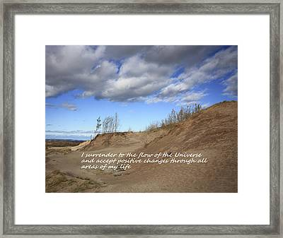I Surrender To The Flow Of The Universe Framed Print by Patrice Zinck