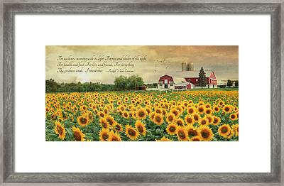 I Thank Thee Framed Print by Lori Deiter