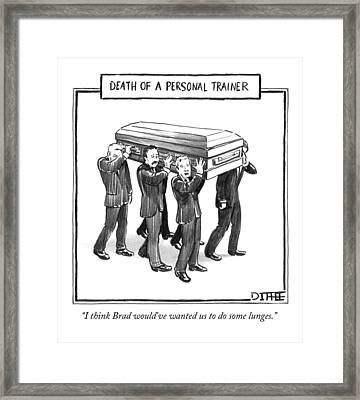 Death Of A Personal Trainer Framed Print