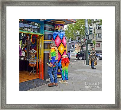 I Think He Found The Store He Was Looking For Framed Print by Jim Fitzpatrick