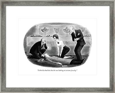 I Think He Had The Idea He Was Looking At Costume Framed Print by Richard Taylor