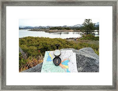 I Think I Am Lost Framed Print by Don Bendickson