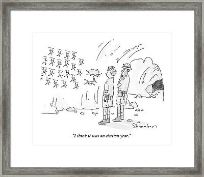 I Think It Was An Election Year Framed Print by Danny Shanahan