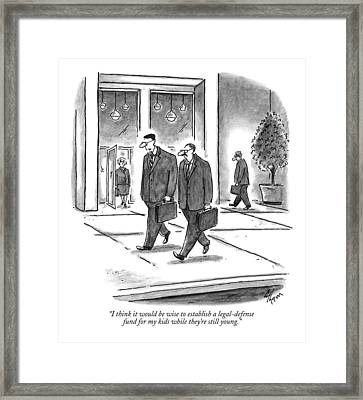 I Think It Would Be Wise To Establish Framed Print by Frank Cotham