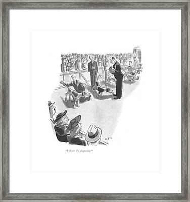 I Think It's Disgusting Framed Print