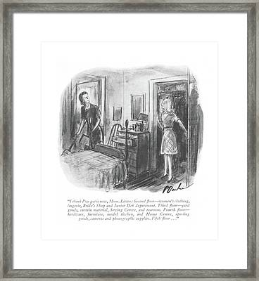 I Think I've Got It Now Framed Print by Perry Barlow