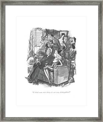 I Think Men Over Thirty-six Framed Print by Barbara Shermund
