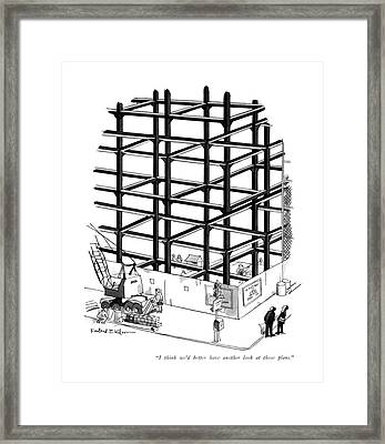 I Think We'd Better Have Another Look At Those Framed Print by Rowland Wilson