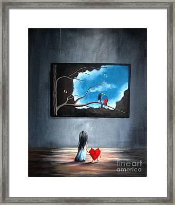 I Think We're Being Followed By Shawna Erback Framed Print by Shawna Erback