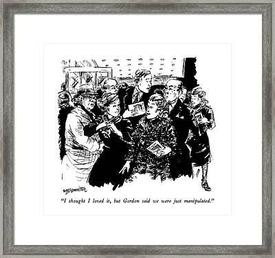 I Thought I Loved Framed Print by William Hamilton
