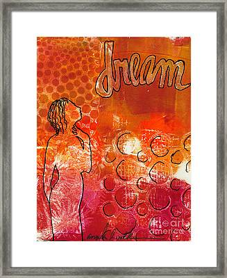 I Too Have A Dream Framed Print by Angela L Walker