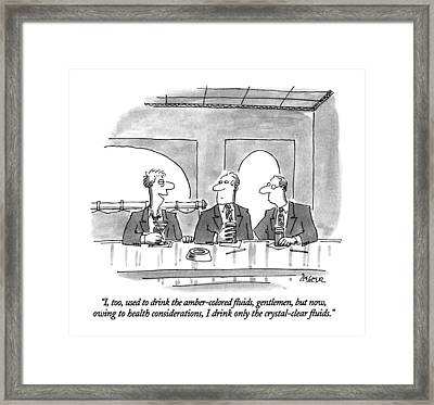 I, Too, Used To Drink The Amber-colored Fluids Framed Print