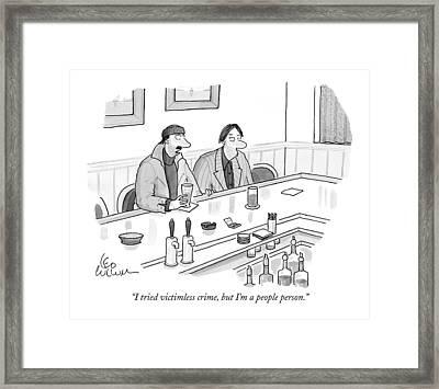 I Tried Victimless Crime Framed Print by Leo Cullum
