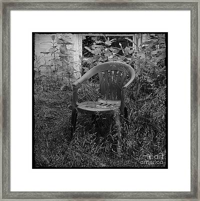 I Used To Sit Here Framed Print