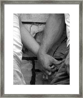 Framed Print featuring the photograph I Wanna Hold Your Hand by Lesa Fine