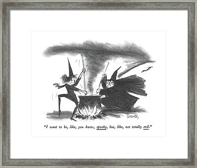I Want Framed Print by Donald Reilly